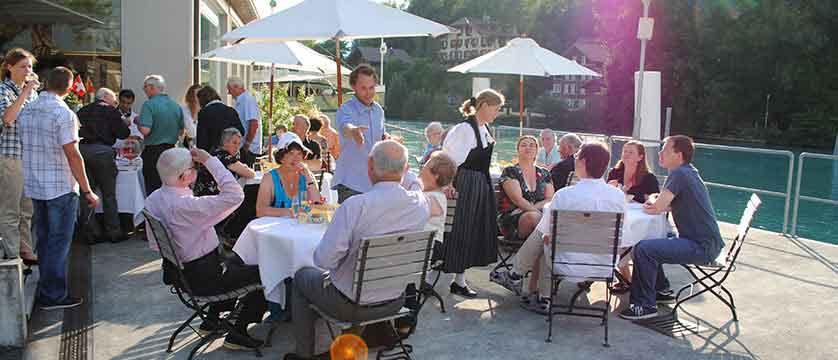Hotel Du Lac, al-fresco dining at the restaurant by day.jpg